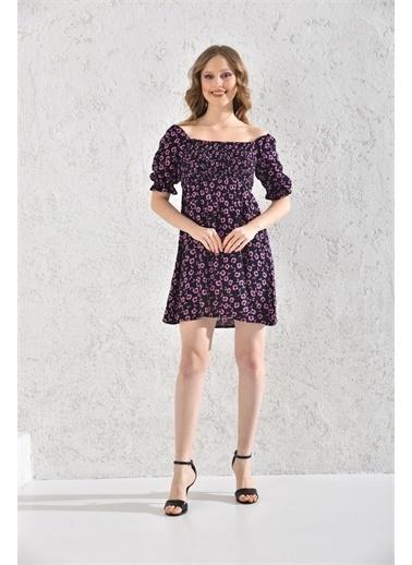Rodi Jeans Kadın Çiçekli Kısa Elbise Rd21Yb117550 Pembe